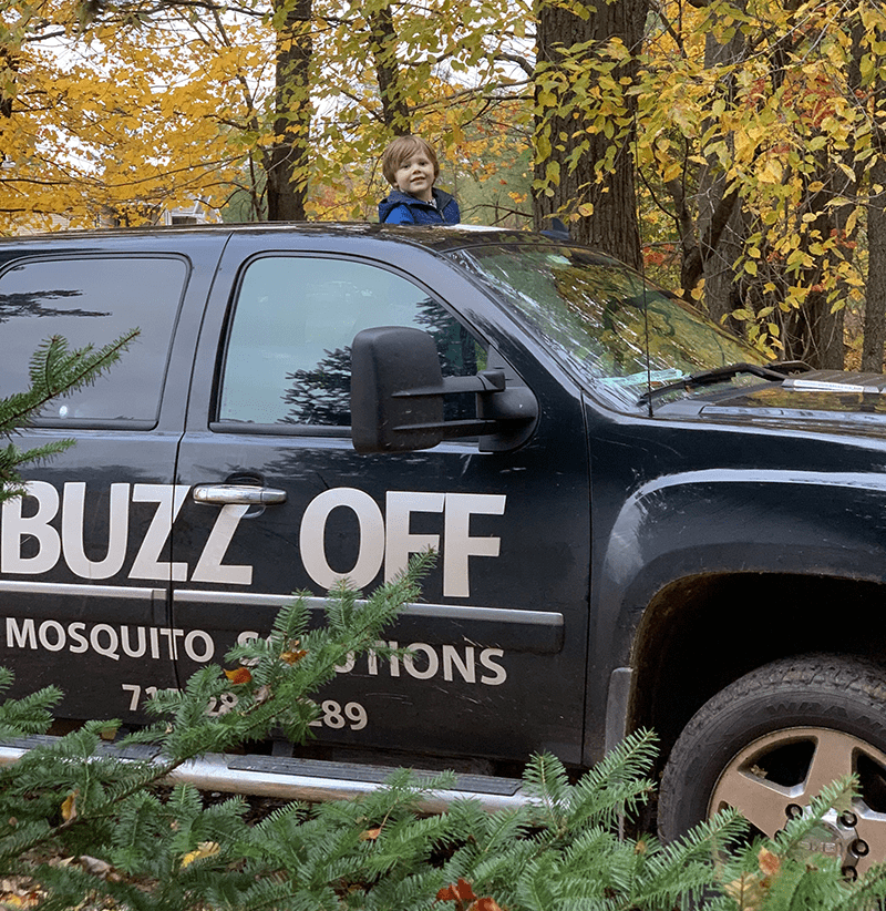 a Buzz Off company vehicle